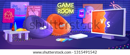 game club room interior play