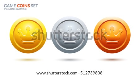 game coins set 3 place medals