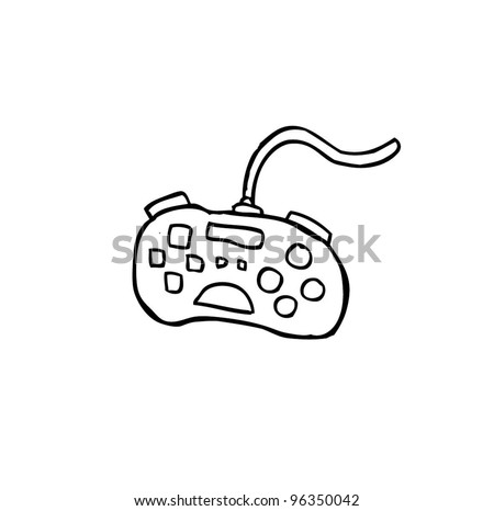game console , gadget and joypad cartoon doodle, vector illustration