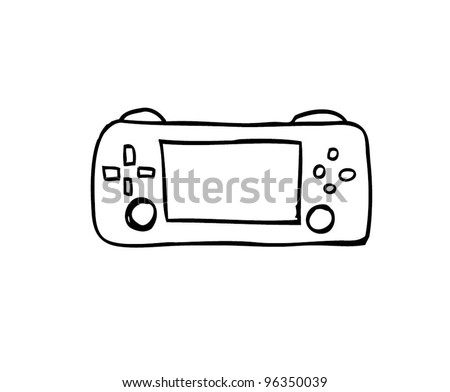 game console , gadget cartoon doodle, vector illustration