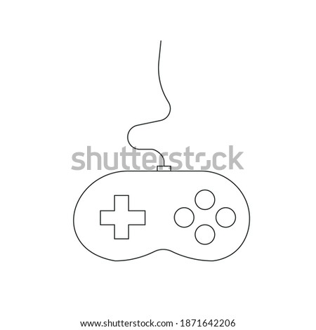 Game console picture on white background