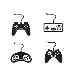 Game consoles. Vector format