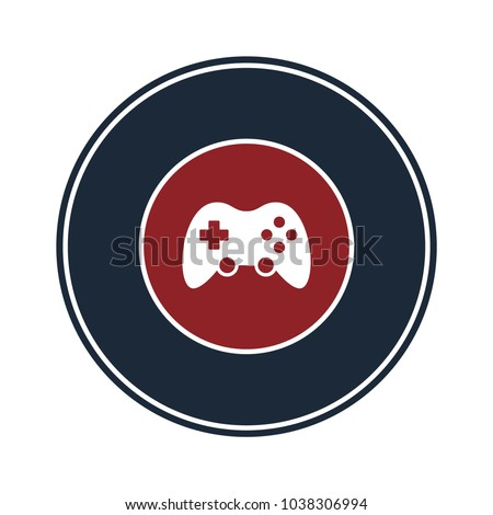 game control icon in circle