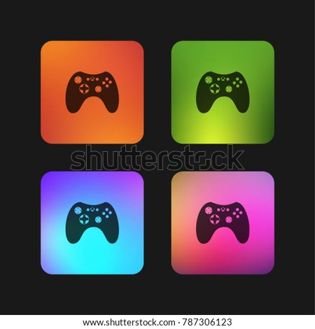 game controller four color