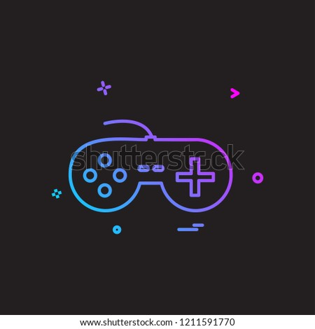 Game controller icon design vector