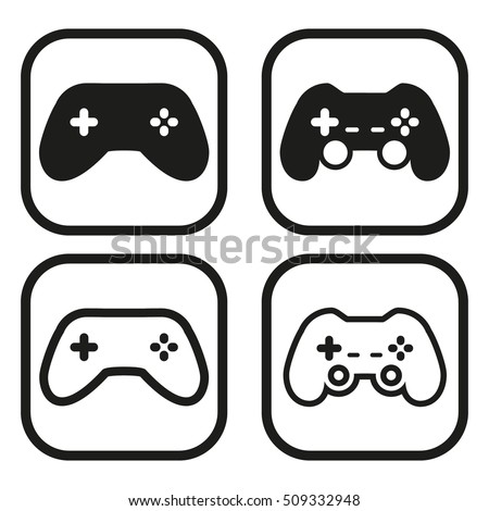Game controller icon in four variations.