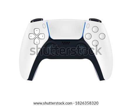 Game controller in vector.Joystick vector illustration. Gamepad for game console. Playstation 5