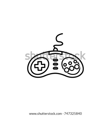 game controller sega line icon