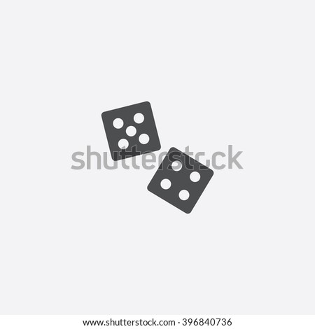 game dice icon vector game