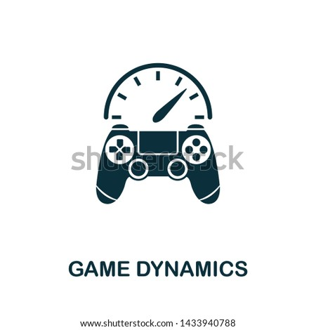 Game Dynamics vector icon illustration. Creative sign from gamification icons collection. Filled flat Game Dynamics icon for computer and mobile. Symbol, logo vector graphics.