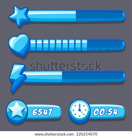 stock-vector-game-ice-energy-time-progre