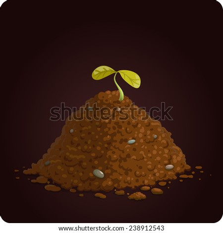 game icon of ground with plant