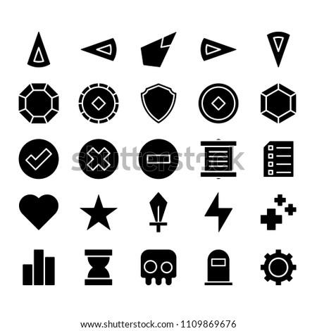 Game Icon Set - Glyph Style