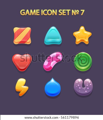 game icons candy and design