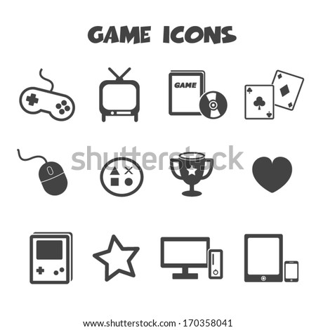 game icons vector symbols
