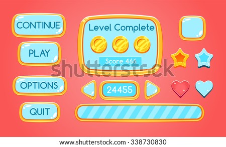 game interface  buttons