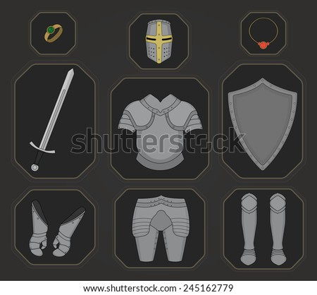 game inventory knight armor