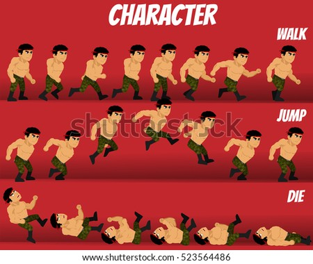Stock Photo Game Kits Adventure (Character Sprite Soldier Man)