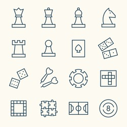 Game line icons