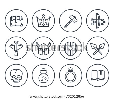 game line icons on white set 2