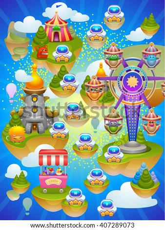 game map vector illustration