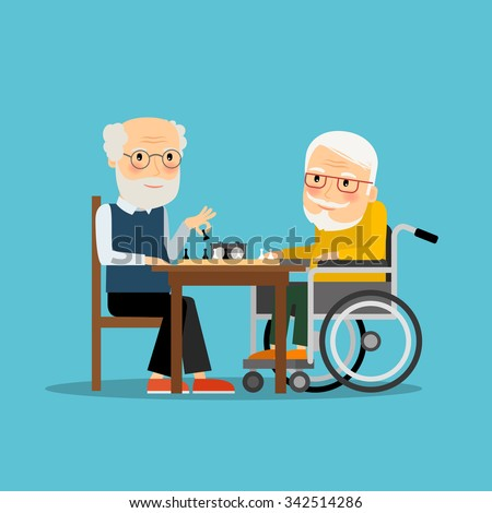 game of chess two old men