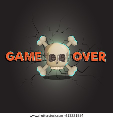 game over abstract vector game