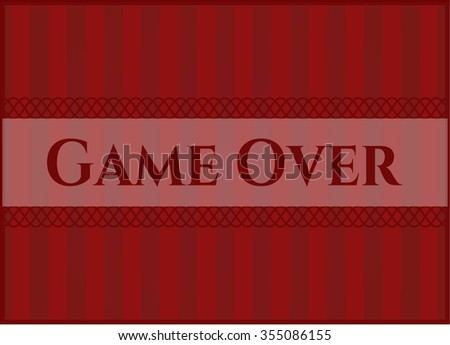 Game Over card or poster