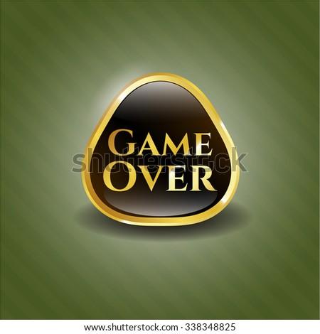 Game Over gold shiny emblem