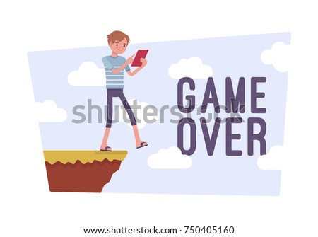 game over poster young gamer