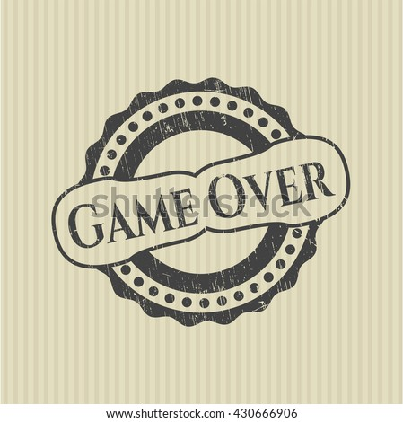 Game Over rubber grunge seal