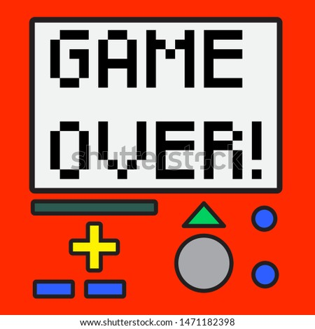 GAME OVER SLOGAN PRINT VECTOR