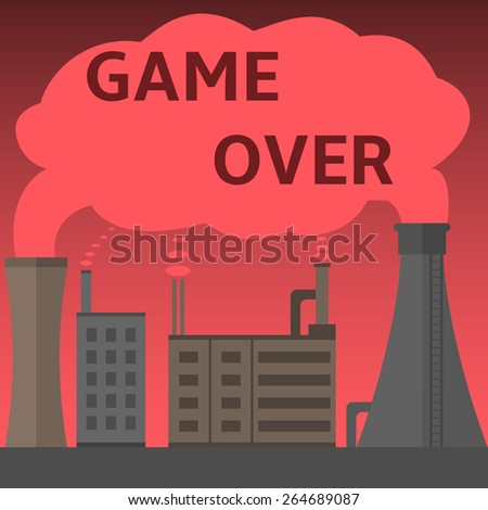 game over text on the toxic