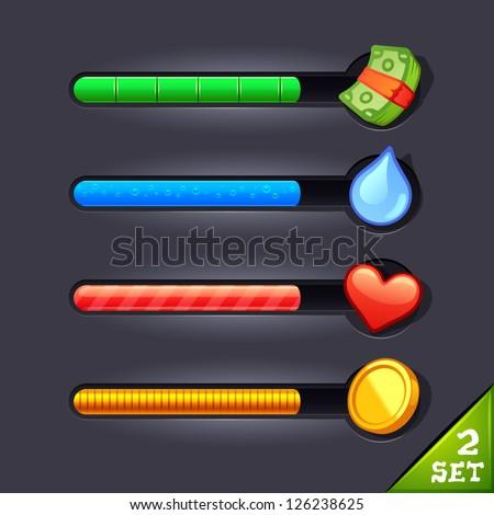 game resource bar set 2