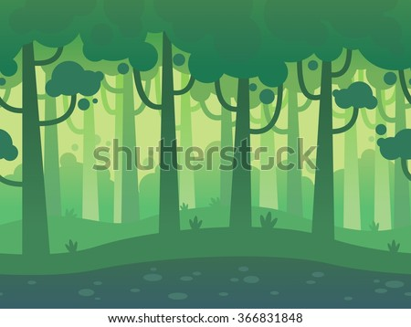 game seamless horizontal forest