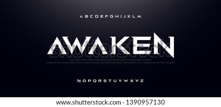 Game Sport Movie Alphabet Font. Typography modern regular style font for technology, digital, logo design. vector illustration