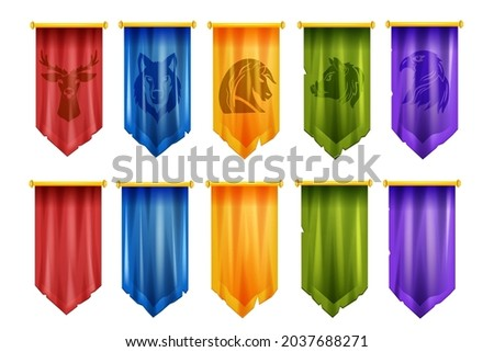 game team flag set  vector
