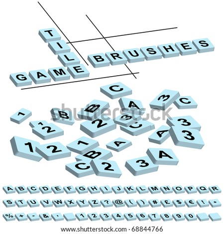 game tile brushes (just drag letters  to your brushes window)