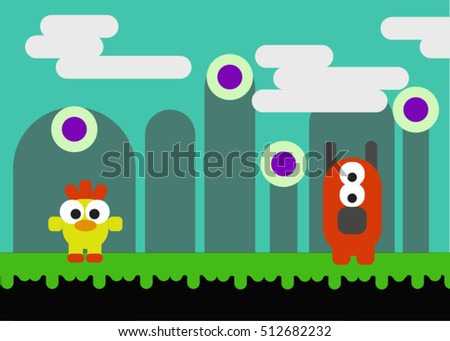 game vector background game