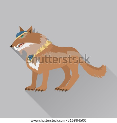 game wolf avatar icon isolated
