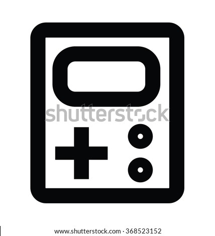 gameboy bold line vector icon