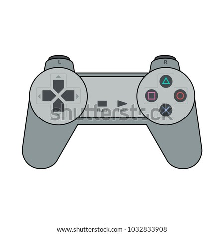 gamepad for playstation in flat