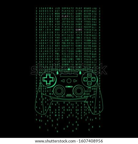 gamepad illustration  tee shirt