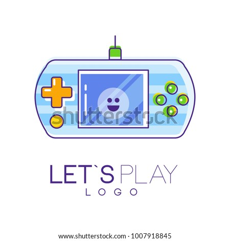 gamepad logo with screen and