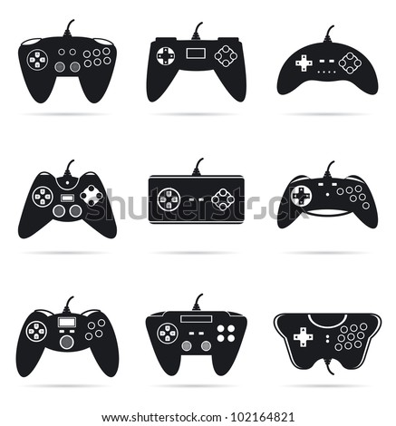 Gamepads silhouettes.