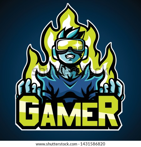 gamer mascot logo  sticker