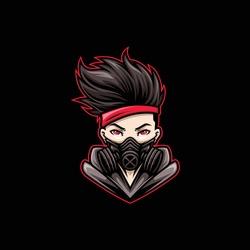 Gamer Mask Mascot Gaming Esport Logo Template