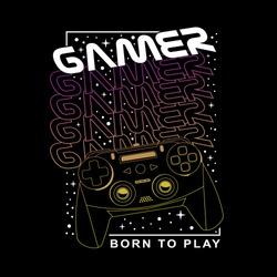 Gamer typography, tee shirt graphics, vectors , hand drawn artwork