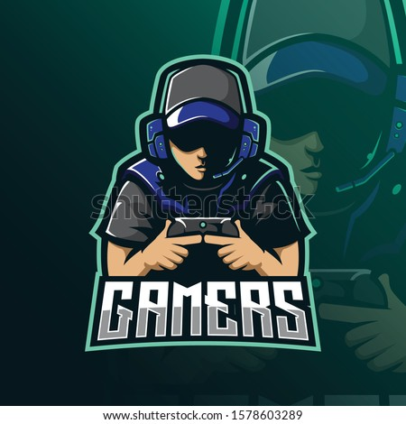 gamers mascot logo design