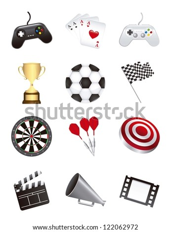 games icons isolated over white background. vector illustration
